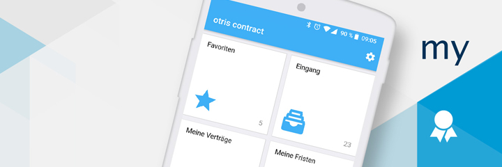 Schnell, unkompliziert, angepasst: mobiles Vertragsmanagement mit der myContract App