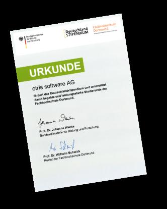 Urkunde - Deutschland Stipendium