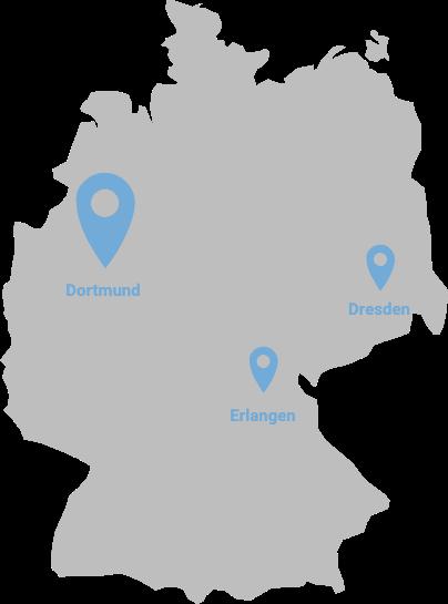 Standorte der otris-Gruppe