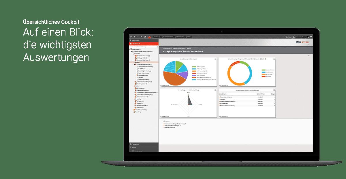 Analyse-Beispiel der Datenschutzmanagement-Software otris privacy