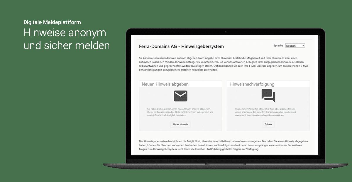Digitale Meldeplattform - otris Hinweisgebersystem